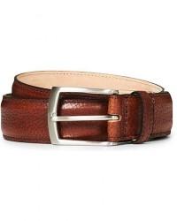 Loake 1880 Henry Grained Leather Belt 3,3 cm Mahogany men W40/100CM Brun