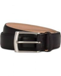Loake 1880 Henry Leather Belt 3,3 cm Black men W36/90cm Sort