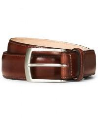 Loake 1880 Henry Leather Belt 3,3 cm Mahogany men W38/95CM Brun