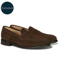 Loake 1880 Imperial 2 Penny Loafer Brown Suede men UK9,5 - EU43,5 Brun