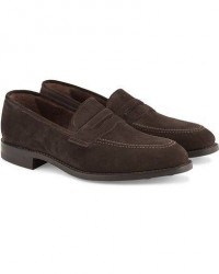 Loake 1880 MTO Whitehall Dainite Penny Loafer Brown Suede men UK9 - EU43 Brun