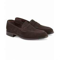 Loake 1880 MTO Whitehall Dainite Penny Loafer Brown Suede