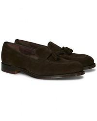 Loake 1880 Russell Tassel Loafer Chocolate Brown Suede men UK6 - EU40 Brun