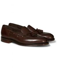 Loake 1880 Russell Tassel Loafer Dark Brown Calf men UK11 - EU45 Brun