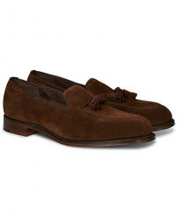 Loake 1880 Russell Tassel Loafer Polo Oiled Suede men UK6,5 - EU40,5 Brun