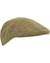 Lock & Co Hatters Gill Checked Tweed Cap Green men 61