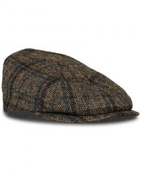 Lock & Co Hatters Glen Checked Wool Cap Blue men 60 Grå