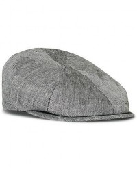 Lock & Co Hatters Summer Reverb Herringbone Linen Cap Black men 56 Sort