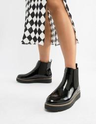 London Rebel Chunky Chelsea Boots - Black