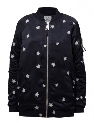 Long Length Bomber Jacket Stars All Over