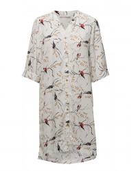 Long Shirt W. Bird Print