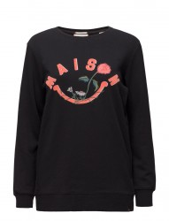 Longer Length Crewneck Logo Sweat With Embroidered Artworks