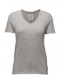 Loose Fit Low V-Neck Tee