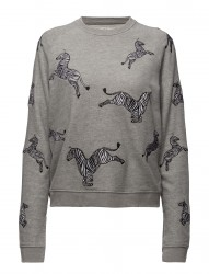 Loose Fit Raglan Sweat Zebras All Over