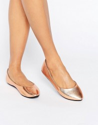 Lost Ink Bronze Ballet Flats - Copper