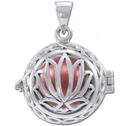 Lotus Engle kalder / Engleklokke med Lotus blomst - u/kæde