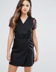 Louche Direll Wrap Front Dress - Black