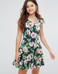 Louche Gael Dress In Floral Print - Navy