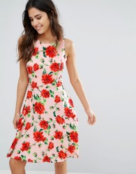 Louche Moesha Floral Print Dress - Pink