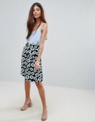Louche Ritz Floral Midi Skirt - Black