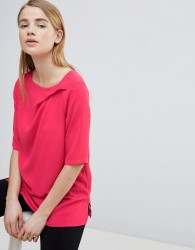 Louche Ruched Front Shell Top - Pink