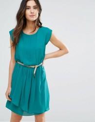 Louche Shari Belted Pleat Front Dress - Green