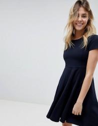 Louche Skater Dress - Navy