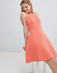 Louche Textured Skater Dress - Pink