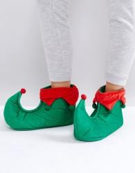 Loungeable Christmas Elf Slipper - Green