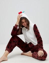 Loungeable Christmas Pud 3D Onesie - Brown