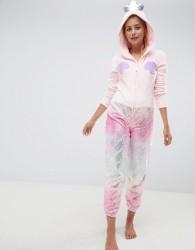 Loungeable Mermaid Metallic Applique Shell Onesie - Pink