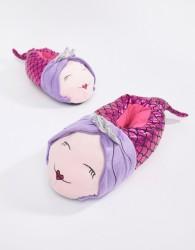 Loungeable Metallic Crown Mermaid Slipper - Purple