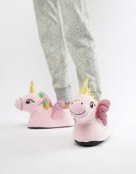 Loungeable novelty unicorn slippers - Black