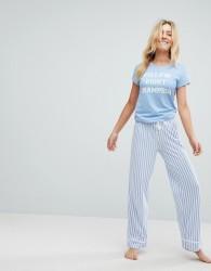 Loungeable Pillow Fighter Pyjama Set - Blue