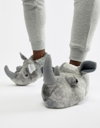 Loungeable rhino slippers - Grey