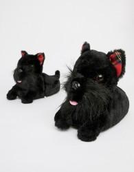 Loungeable Scotty Dog Slipper - Black