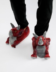 Loungeable triceratops slippers - Red