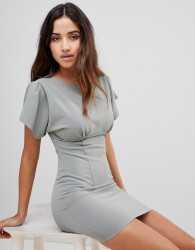 Love Basque Top Dress - Green