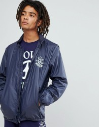 Love Moschino Cross Body Logo Windbreaker Jacket - Navy