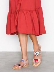 Love Moschino Flat Sandal Sandaler Rosa/Lyserød