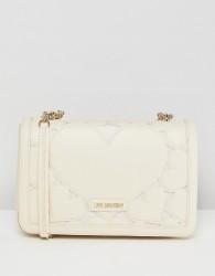Love Moschino Heart Chain Shoulder Bag - Cream