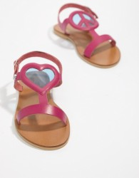 Love Moschino Heart Flat Sandals - Pink