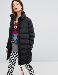 Love Moschino Quilted Long Coat - Black