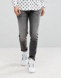 Love Moschino Slim Fit Jeans in Washed Black - Black