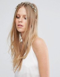Love Rocks Pearl & Leaf Headband - Gold
