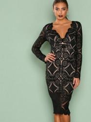Love Triangle Atomic Midi Dress Kropsnære kjoler Black