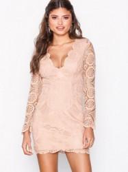 Love Triangle Atomic Mini Dress Kropsnære kjoler Pink
