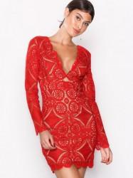 Love Triangle Atomic Mini Dress Kropsnære kjoler Red