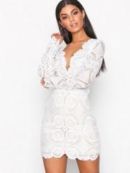 Love Triangle Atomic Mini Dress Kropsnære kjoler White