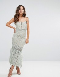 Love Triangle Cami Strap Lace Dress with Pephem - Green